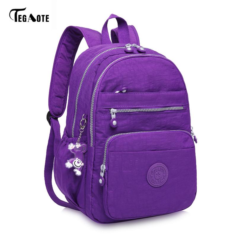 TEGAOTE Laptop Backpack Waterproof Girl School Backpack Casual Men Women  Nylon Backpacks for School Teenager Boys Children Bag-in Backpacks from  Luggage ... 43c6471c8c8ba
