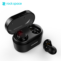 ROCKSPACE TWS Bluetooth Earphone Earbuds Touch Control Hifi Stereo Wireless Microphone For Phone With Charger Charging