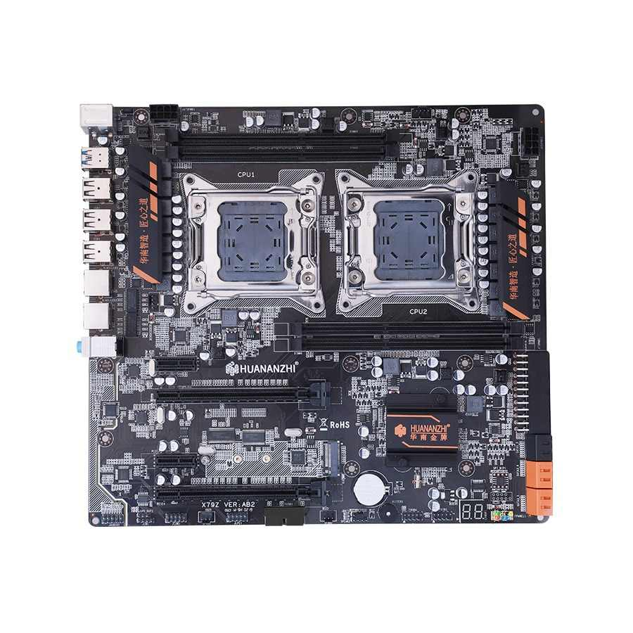 X79 dual CPU motherboard LGA 2011 E-ATX USB3.0 SATA3 PCI-E  NVME with dual Xeon processor