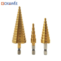 GOXAWEE 3 100pcstitanium Étape Core Forets 4-12mm 4-20mm 4-32mm HSS Outils électriques Haute Vitesse en Métal En Acier Bois foret trou cutter