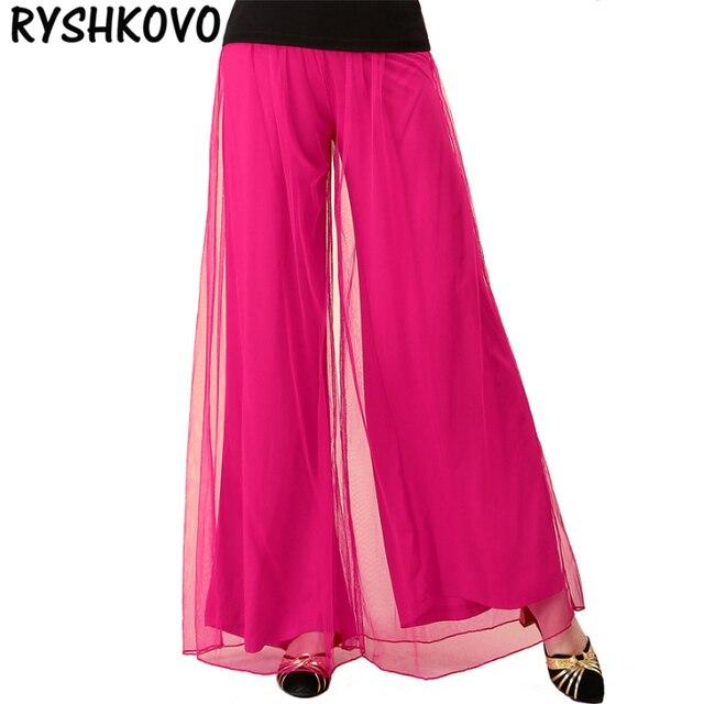 d09b23467a Women Yoga Pants Women Plus Size Hot Pink yoga leggings Colorful Tulle  Dance Yoga TaiChi Full Length Pants Pants yoga clothes