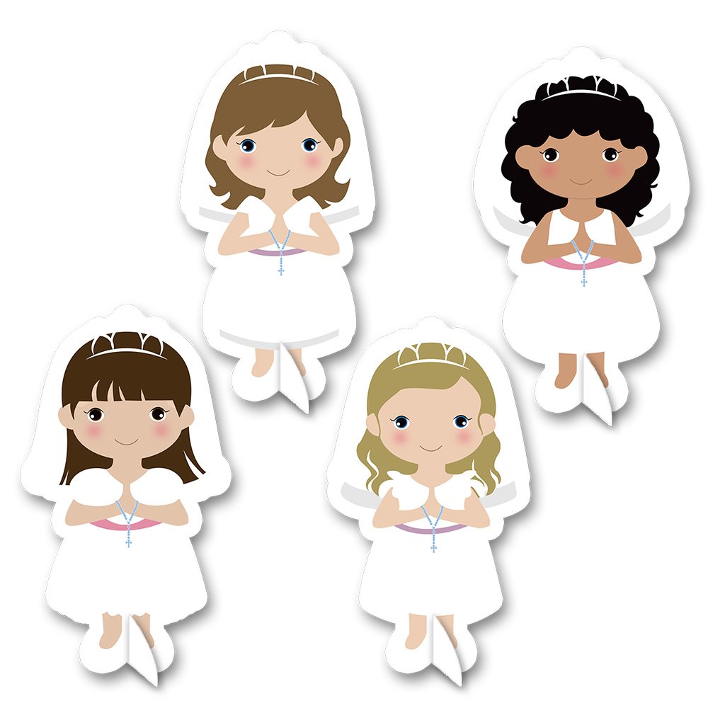 My First Communion Theme Girls Series 2 Table Centerpiece Birthday Festival Event Party Decorations Supplies Girl Party Decor