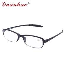 Guanhao Ultraleve Magro Óculos de Leitura Hipermetropia Quadro TR90 Homens  Mulheres Universal Leve Confortável 1.0 1.5 9818282a3e