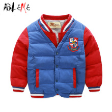Cool Baseball Style Children'S Winter Jacket Roupas Infantis Patchwork Color Collar Fashion Boys Parkas Warm Outerwear Coat