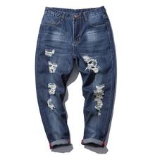 Весной 2017 Новых Прибытия Мужские Джинсовые Брюки М-5XL пят Мужская Комбинезон Мода Марка Мужчины Проблемные Джинсы Высокого Качества