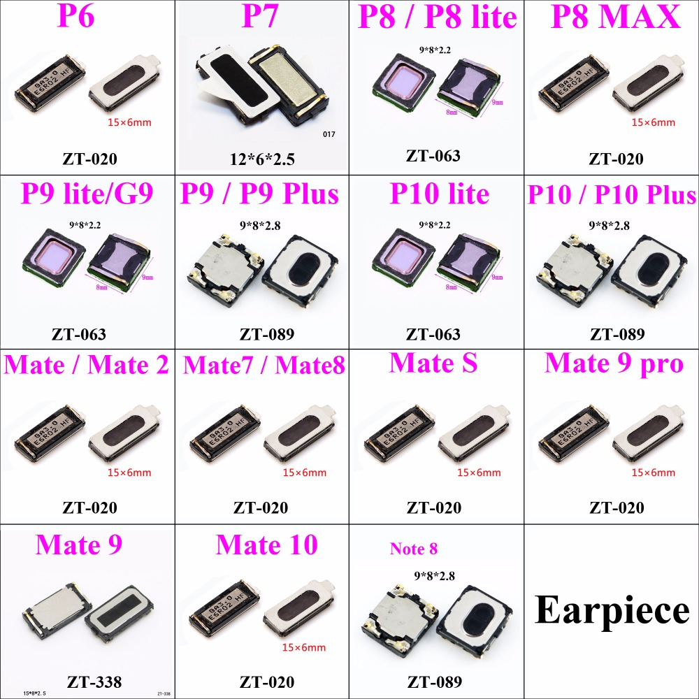 2pcs Earpiece Speaker For Huawei Ascend P6 P4 P8 LITE MAX P9 PLUS P10 MATE 2 Mate 7 8 9 10 Note 8 Repair Parts Replacement