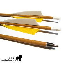 Wood Grained Archery Carbon Arrows Spine 400/500/600 Shaft 4 Inch Feather For Hunting Bow 29/30/31 Inch Arrow 6PK