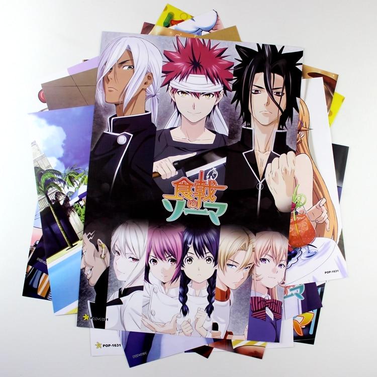 ▽8*(42x29 cm) shokugeki no Soma posters anime posters pared ...