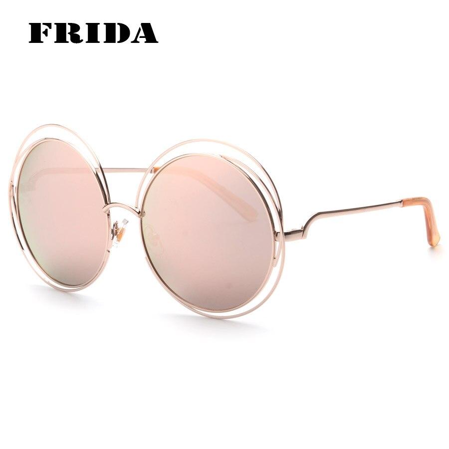 FRIDA 2016 Grandes Redondas gafas de Sol de Las Mujeres Diseñador de la Marca Original Sol