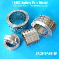 18650 battery pure nickel strip 2P/3P/4P/5P/6P/8P nickel tab battery spacing 20.2mm Ni belt For 18650 battery 1P/2P/3P holder