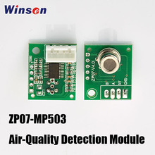 4PCS Winsen ZP07 MP503 Air Quality Detection Module Adopts Flat Surface Semiconductor Gas Sensor, Low Power Consumption