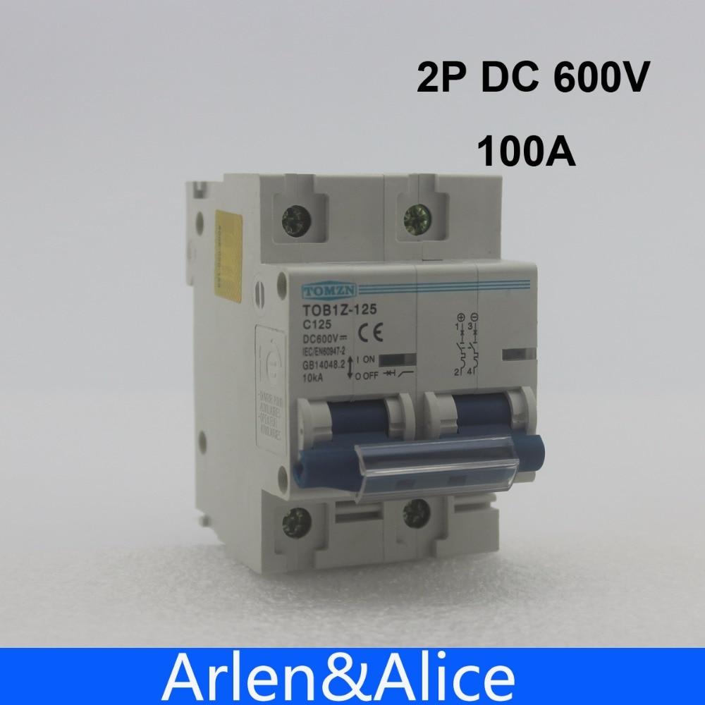 2P 100A DC 600V  Circuit breaker FOR PV System C curve MCB2P 100A DC 600V  Circuit breaker FOR PV System C curve MCB