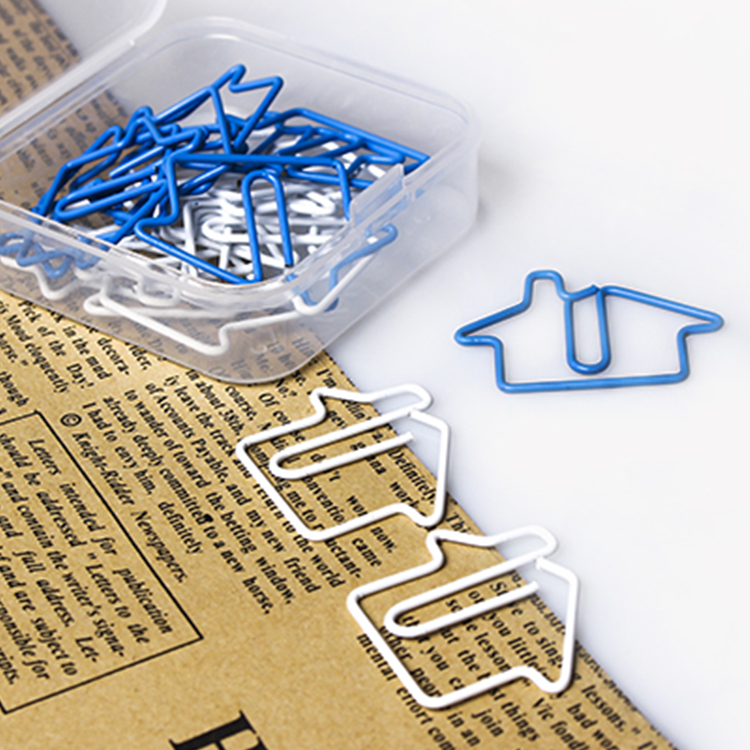 Small House Special Shape Paperclips Metal Paper Clips Bookmark Paperclip Metal Clips Accessories Office Clip Photo Metal Clip