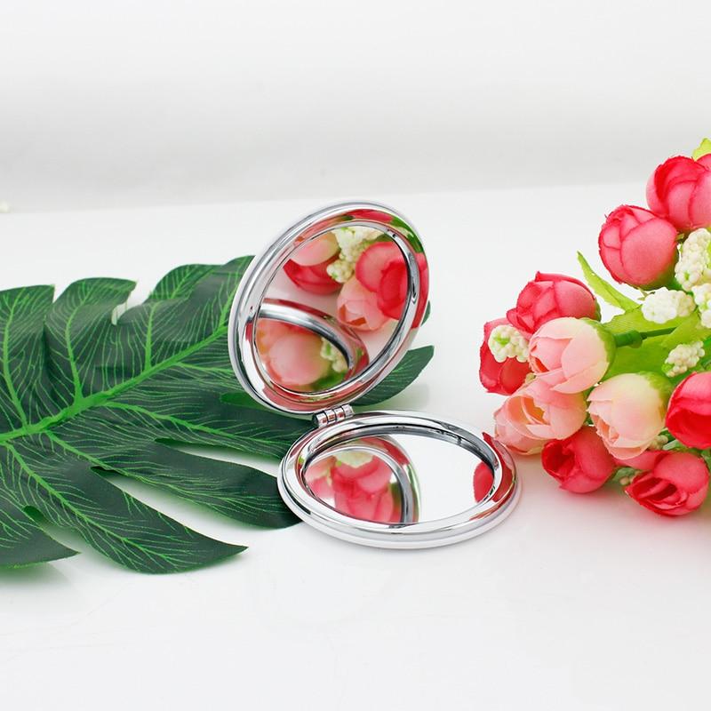 Jweijiao Round Folding Mini 1x/2x Magnifying Mirror Love Angle Horse Unicorn Animal Makeup Mirror Double Sides