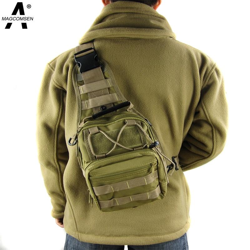 MAGCOMSEN Backpack Men Nylon Waterproof Military MOLLE Camouflage Chest Shoulder Bag Travel Duffel Backpack Men AG
