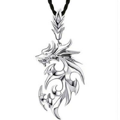Los hombres de La Joyería Collar de Dragón 100% 925 Collares De Plata Esterlina