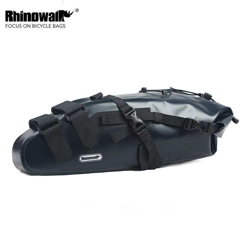 Rhinowalk 100%Waterproof 10L Large Capacity Bicycle Saddle Bag MTB Road Long Distance Travel Storage Bag Bike Back Seat Rear Bag rhinowalk 10l 100% waterproof bike saddle bag seat bike mountain bike accessories