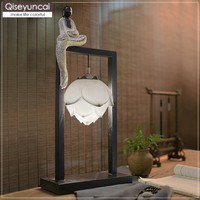Qiseyuncai 2019 Chinese Zen Buddhist lamp table lamp living room bedroom bedside classical lighting creative simple led lamp