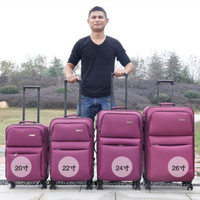 Oxford cloth trolley case,Universal Wheel Travel shell,Large Capacity Luggage,Student Password Box,20Portable Boarding suitcase