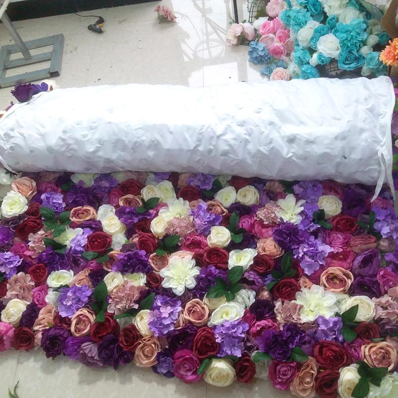 SPR закатать цветок из текстиля стены 4ft * 8ft Искусственный Свадебный случай фон цветочный орнамент украшения Бесплатная доставка - 5