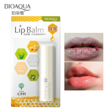 BIOAQUA Natural Aloe Honey Moisturizing Lip Balm Colorless repair wrinkles Woman Winter Moisturizer Nutritious Lipstick Beauty