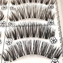 SHIDISHANGPIN 1 box false eyelashes natural long makeup lashes synthetic hair eyelash extension hand made 10mm Faux Cils