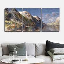 Landscape Wall Pictures Poster Print Canvas Painting Calligraphy Decor for Living Room Bedroom Home Frameless