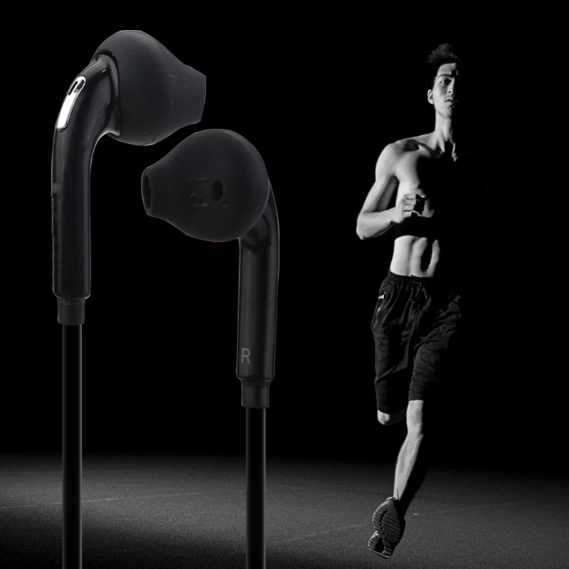 New 3 5mm in ear wired earphone headset sport running earphone with mic earbuds stereo headphones