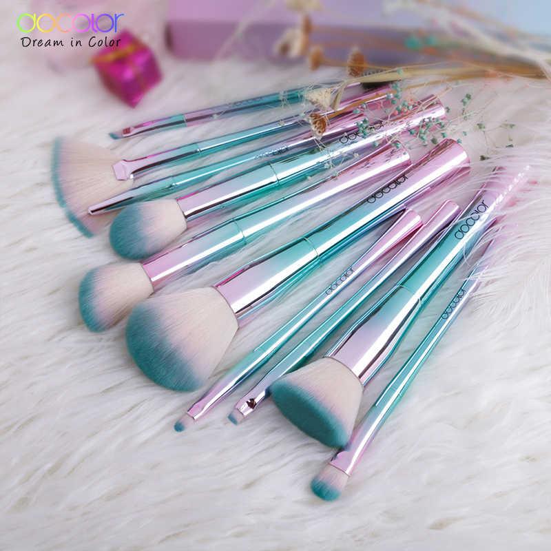 Docolor 11 pièces pinceaux de maquillage ensemble meilleur cadeau de noël poudre fond de teint fard à paupières maquillage pinceaux cosmétiques doux cheveux synthétiques