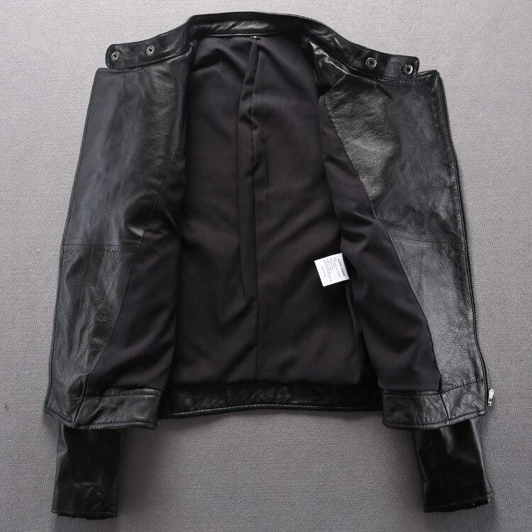 japanische Schafe L ssig Mode Wumen Haut F Marke Fit Leder Echtes Slim M Jacken ntel Schwarze Motorrad 2015 Und 6fgYyvb7