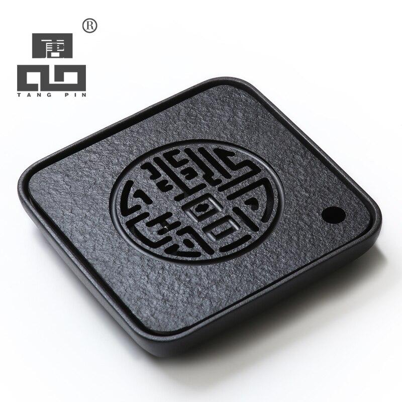 TANGPIN nero wujin vassoio del tè pietra a bordo di tè di ceramica kung fu tè vassoi tavolo in pietra