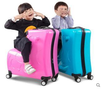 เด็กขี่กระเป๋าเดินทางเด็กรถเข็น Ride กระเป๋าเดินทางเดินทาง Spinner กระเป๋าเดินทางกระเป๋าล้อเลื่อน Rolling รถบรรทุกสำหรับเด็ก-ใน กระเป๋าเดินทางแบบลาก จาก สัมภาระและกระเป๋า บน   1
