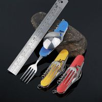 SKTPDD Tableware Knife Swiss Outdoor Camping Survival Army Folding Knifes Multifunctional Tool Pocket Knife EDC New