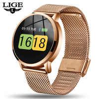 LIGE nuevo reloj inteligente para hombre y mujer, Monitor de presión arterial, recordatorio de información, rastreador de Fitness, pulsera inteligente podómetro