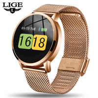 LIGE, nuevo reloj inteligente para hombres y mujeres, Monitor de ritmo cardíaco y presión arterial, Recordatorio de información, rastreador de Fitness, pulsera inteligente, podómetro