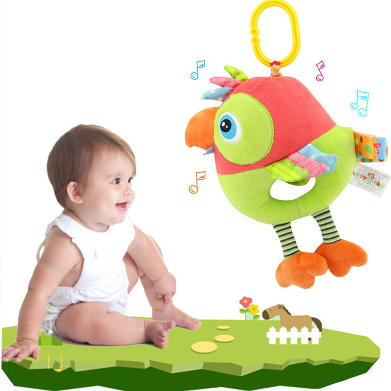 Baby Toys 0-12 Months Plush Stroller Rattles Toys For Newborns Baby Crib Pram Animal Educational Toy Plus Rattles Mobiles