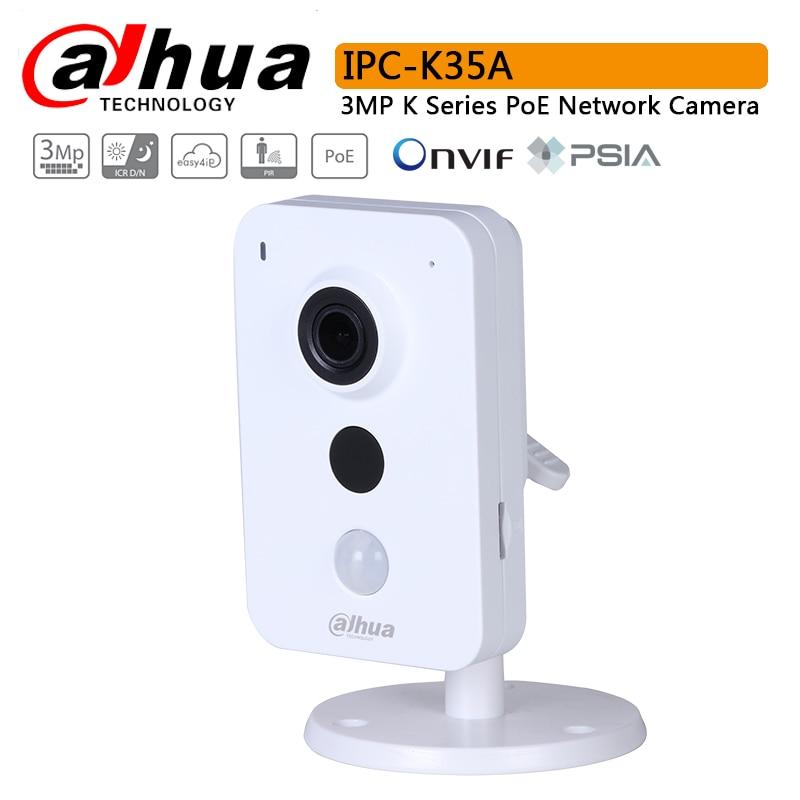 Original IPC K35A 3MP K Series PoE Network Camera H 264 IR 10m SD Card Slot