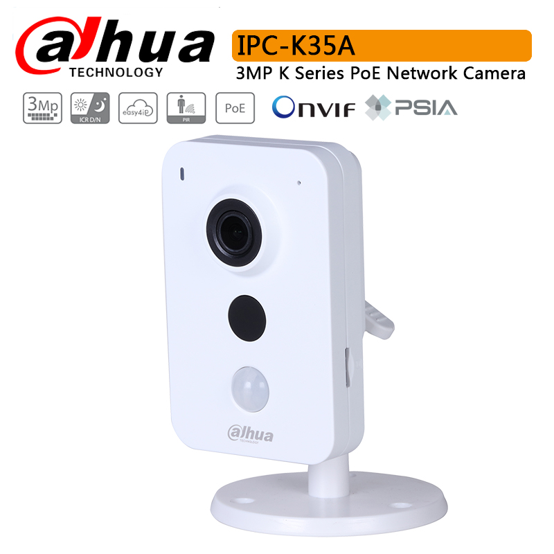Original IPC K35A 3MP K Series PoE Network Camera H.264 IR 10m SD Card Slot Built in Mic&Speaker Replace DS 2CD2442FWD IW Logo-in Surveillance Cameras from Security & Protection    1