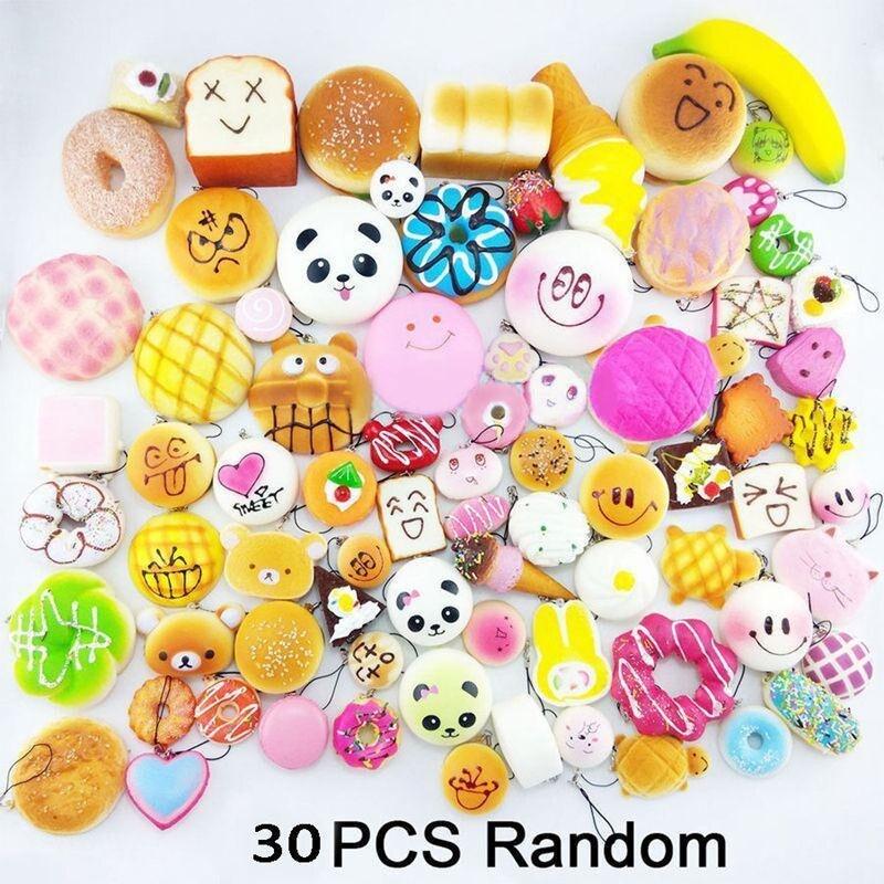 imágenes para 30 Unids Lindo Mini Soft Azar Blando Correa Del Teléfono Simulación Medio Panda Torta Macaron Postre Bollos Teléfono Correas Decoración Regalo