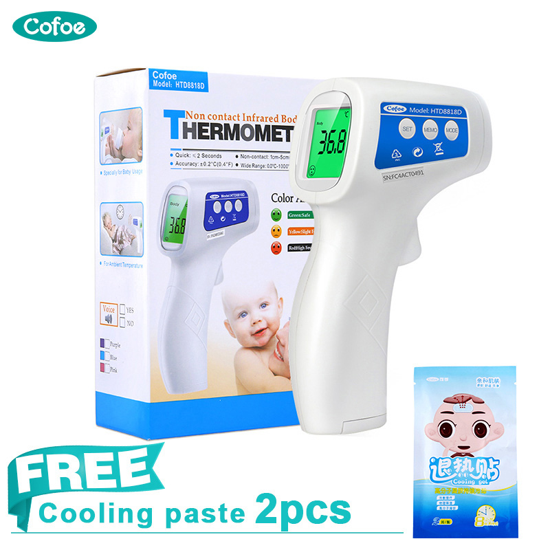 Cofoe Medical Infrared Forehead Thermometer Digital Kids Thermometer Body and Object Temperature Non-contact Portable for Baby цена