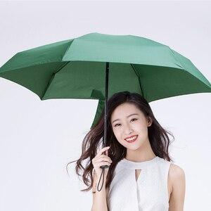 Image 3 - Youpin Umbracella Fiber Ultralight yağmurlu güneşli şemsiye güçlü rüzgar geçirmez şemsiye Ultra küçük taşınabilir şemsiye