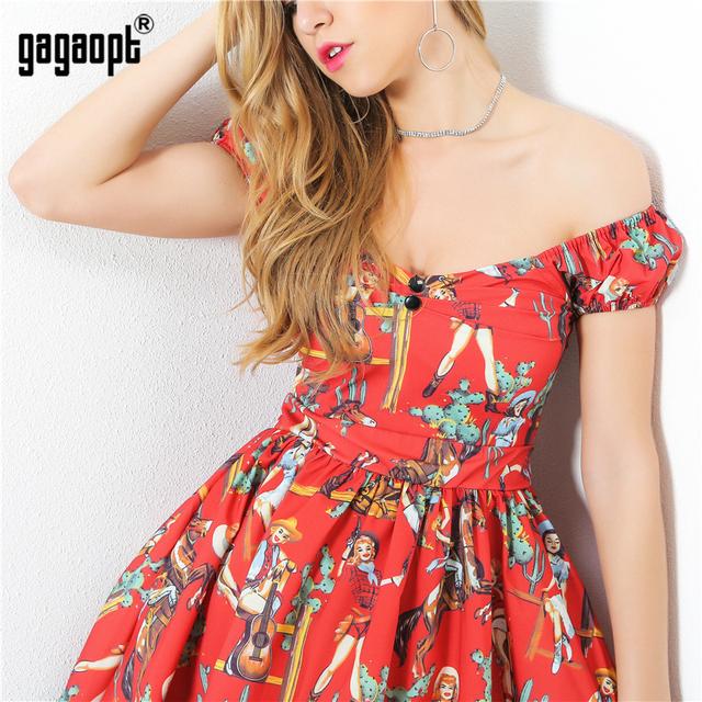 Gagaopt 2017 Summer Dress Women Sexy Casual Elegant Vestidos Sleeveless Mini Dress Robe Print Cute Fashion Club Dresses PROD040