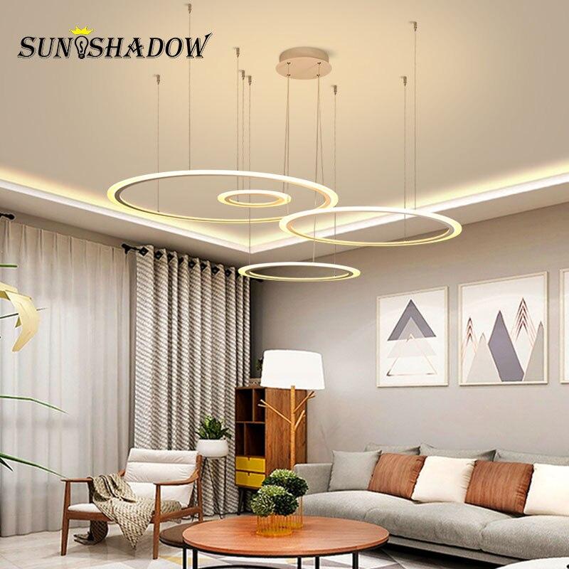 Hanging Lamp Rings Modern Led Pendant Light For Dining room Kitchen Living Ceiling Fixtures LED Penant Indoor