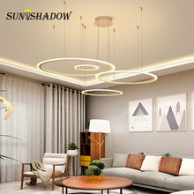 Hanging Lamp Rings Modern Led Pendant Light For Dining room Kitchen Living room Ceiling Fixtures LED Penant Lamp Indoor Fixtures