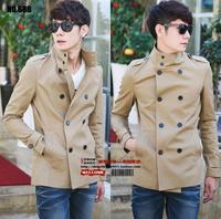 2018 autumn new designer slim sexy short trench coat men overcoat long sleeve mens clothing outerwear casaco masculino england