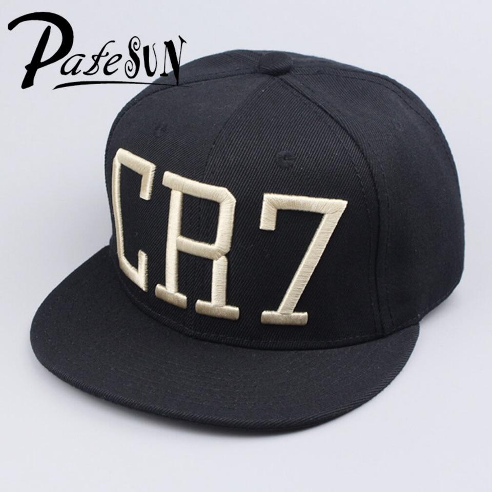Prix pour En gros de mode étoiles ronaldo cr7 casquette de baseball chapeau pour hommes femmes hip hop casquettes noir bleu snapback chapeau cap
