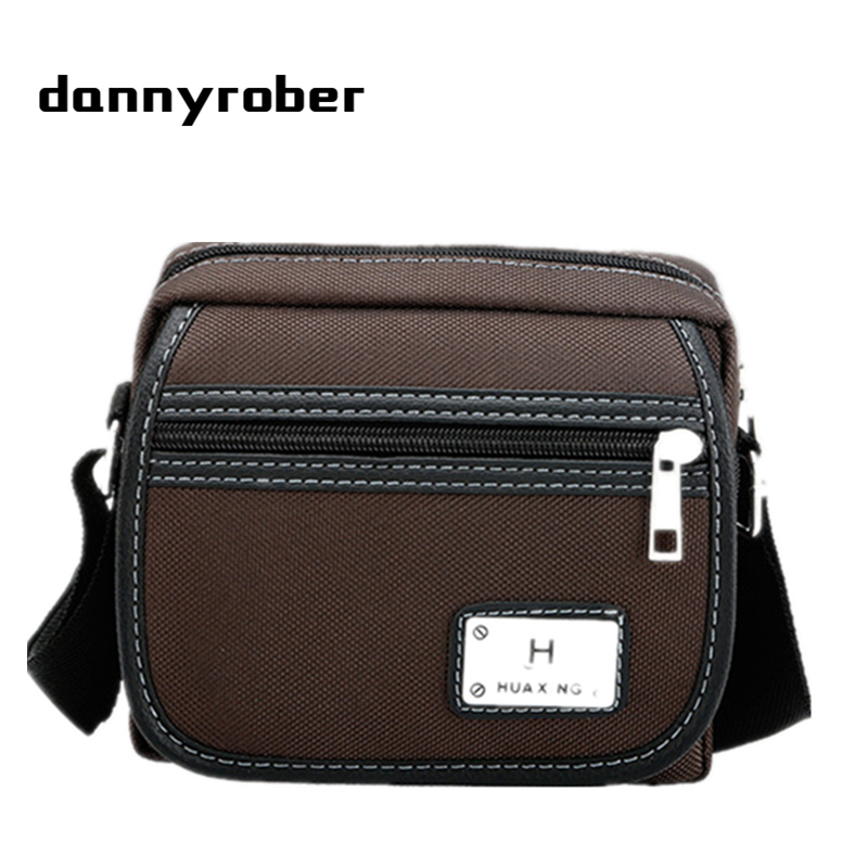 DANNYROBER 2017 Fashion Male Shoulder Crossbody Bags High Quality Waterproof Nylon Small Travel Bag Men Casual Messenger Bag yeso small crossbody business nylon bag men outdoor sport travel waterproof messenger bag casual fashion small shoulder bag man