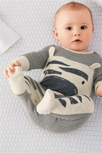 2018 Autumn Fashion Baby Clothing Set Baby boy Zebra Gray Cotton Long-sleeved Rompers+Hat Newborn Toddlers Baby Girls Clothes(China)