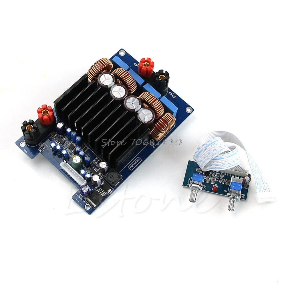 OPA1632DR TAS5630 TL072 600w 4ohm Class D Digital Subwoofer Amplifier Board R179 Drop Shipping