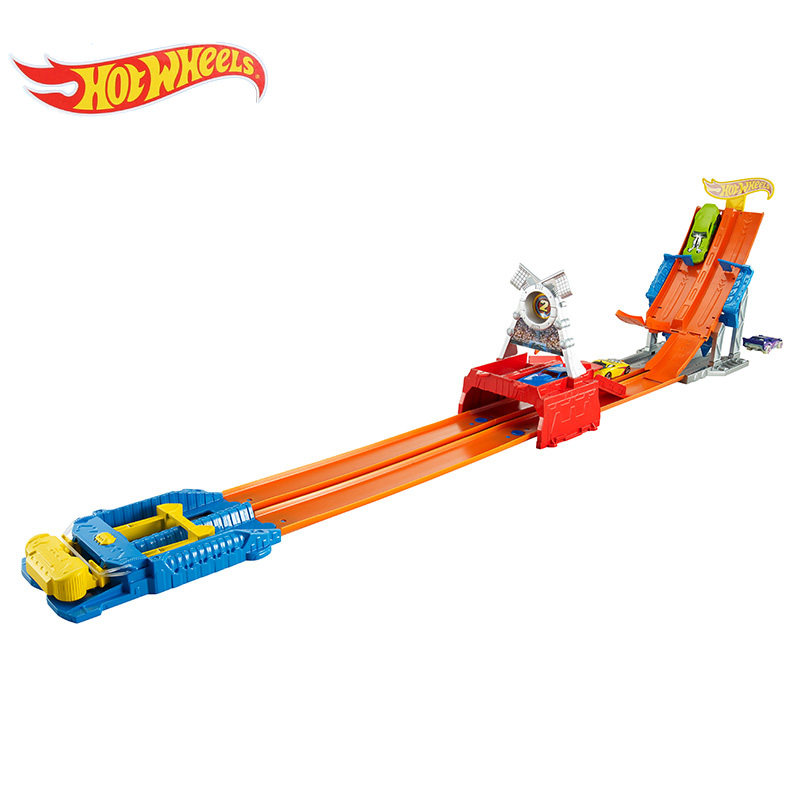 Original Hot Wheels 3 Modes Track Car Toys For Boys 2017 Hotwheels Children Racing Train set Railway Car Educational Toy